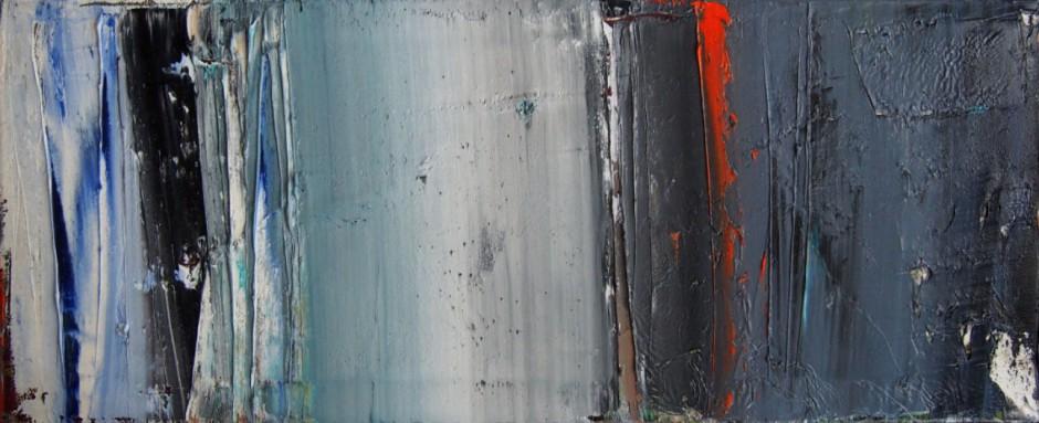 Evolution Nr. 19   Oil on AluDibond   40 x 100 cm