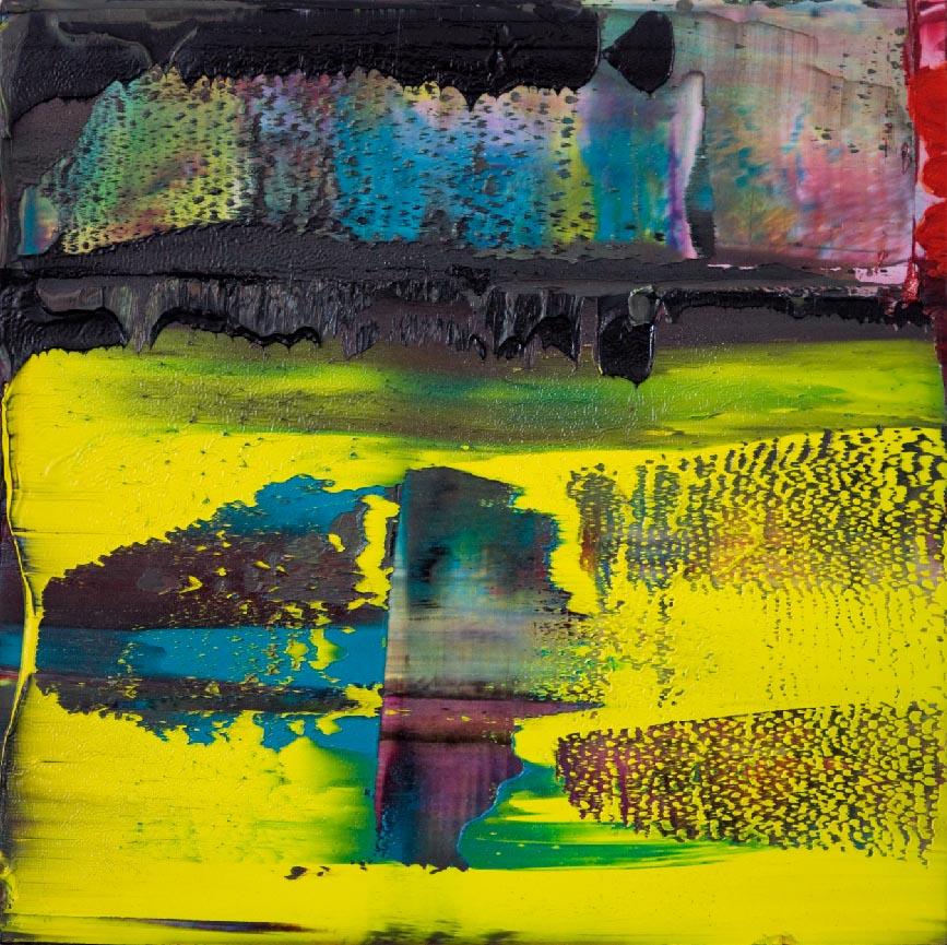 Opera Nr. 24| Oil on AluDibond| 40 x 40 cm Saskia Porkay