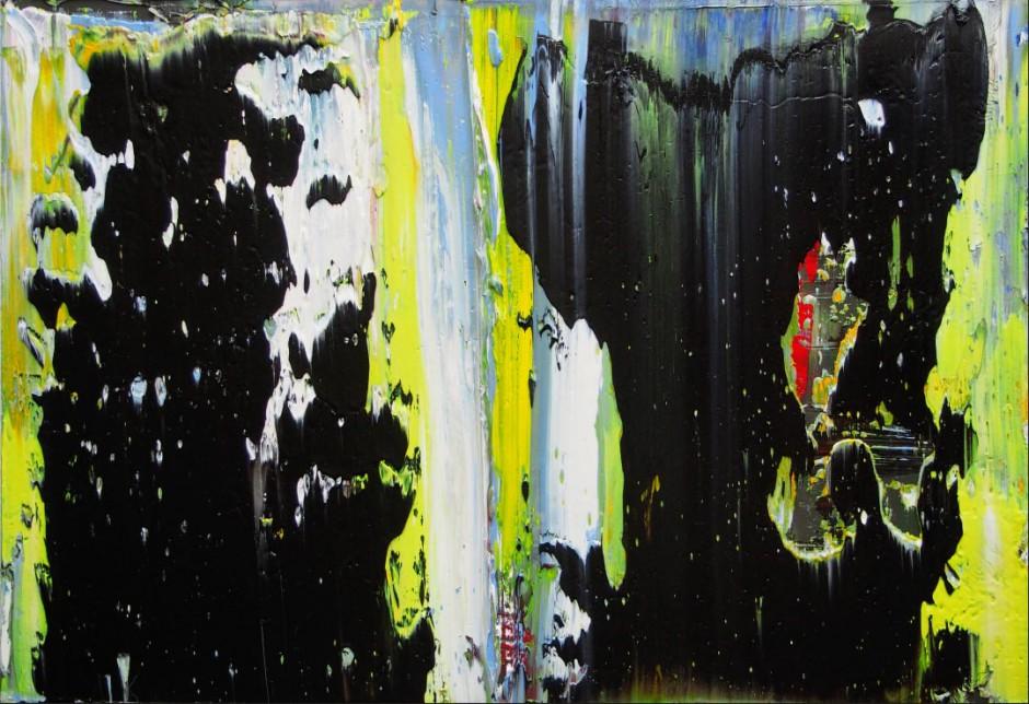 Evolution Nr. 23   Oil on AluDibond   40 x 60 cm